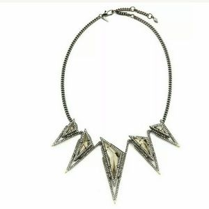 Alexis Bittar Metalic Gold Tipped Pyramid necklace